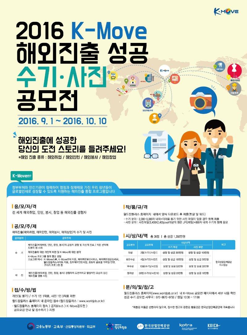 2016 K-Move 해외진출 성공 수기,사진 공모전 포스터.jpg
